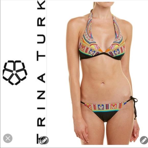 Trina Turk Women/'s Swimwear 1 PC Multicolor Bikini Bottom Size 10,12 NWT